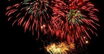 Fogos de artifício - boas vindas.