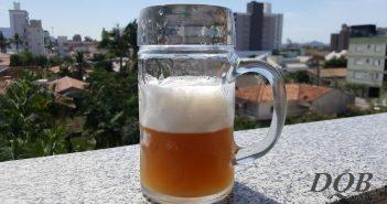 Caneco de cerveja com uma bela Pale Ale artesanal, de produção própria.
