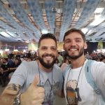Estácio Rodrigues, do Instituto da Cerveja Brasil (ICB), e Diogo (Vem do Malte)
