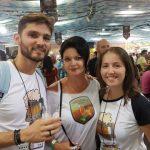 Regina Melo (@adamantium33, do grupo cervejeiro Cervidade Oficial)+Diogo (Vem do Malte) e Fernanda (Vem do Malte)